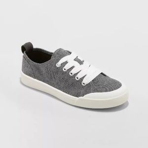 Mad Love Grey Lace-up Canvas Sneakers